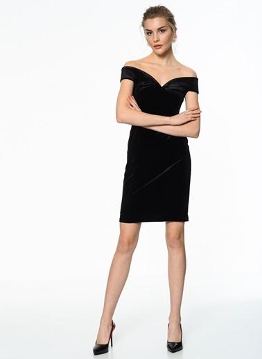 İroni Kısa Abiye Elbise Siyah